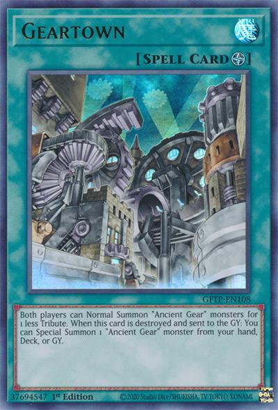 Gear Town Yu-Gi-Oh Card