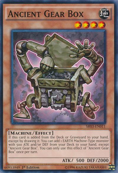 Ancient Gear Box YGO Card
