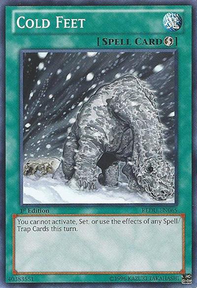 Cold Feet Yu-Gi-Oh Card