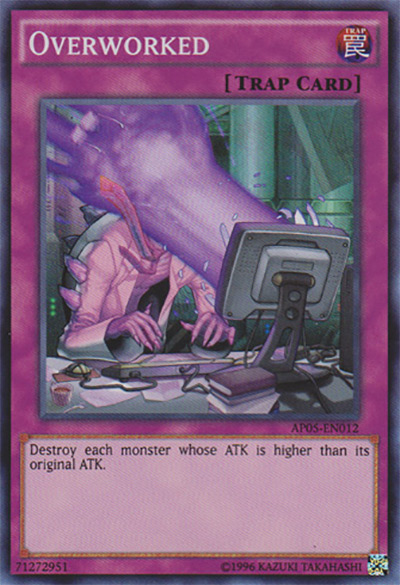 Overworked YGO Card