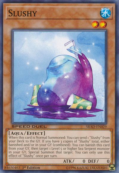 Slushy Yu-Gi-Oh Card