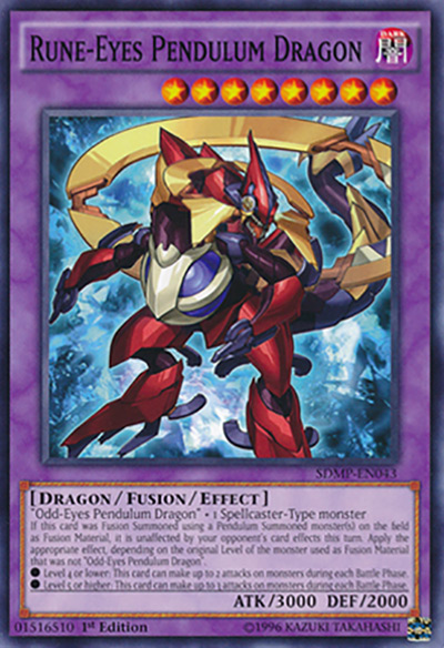 Rune Eyes Pendulum Dragon YGO Card