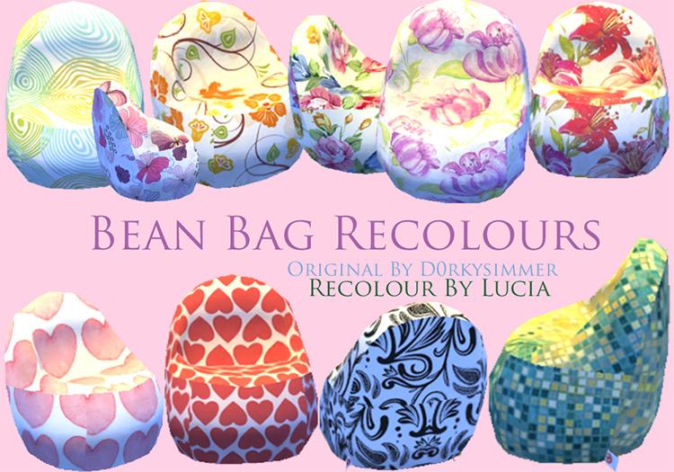 Bean Bag Recolors / TS4 CC