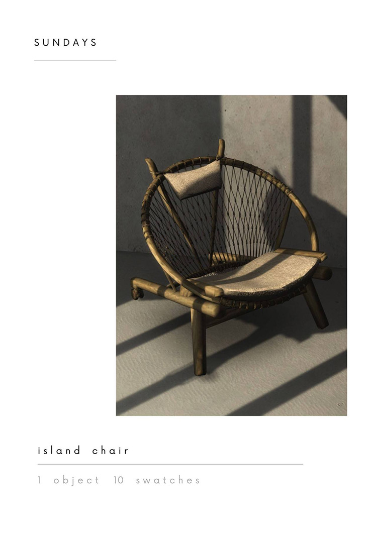 Island Chair for The Sims 4