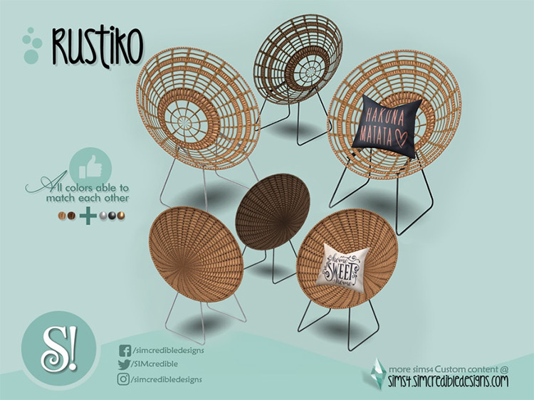 Rustiko Chair / Sims 4 CC