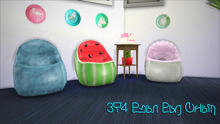 Sims 3 Bean Bag Conversion for The Sims 4
