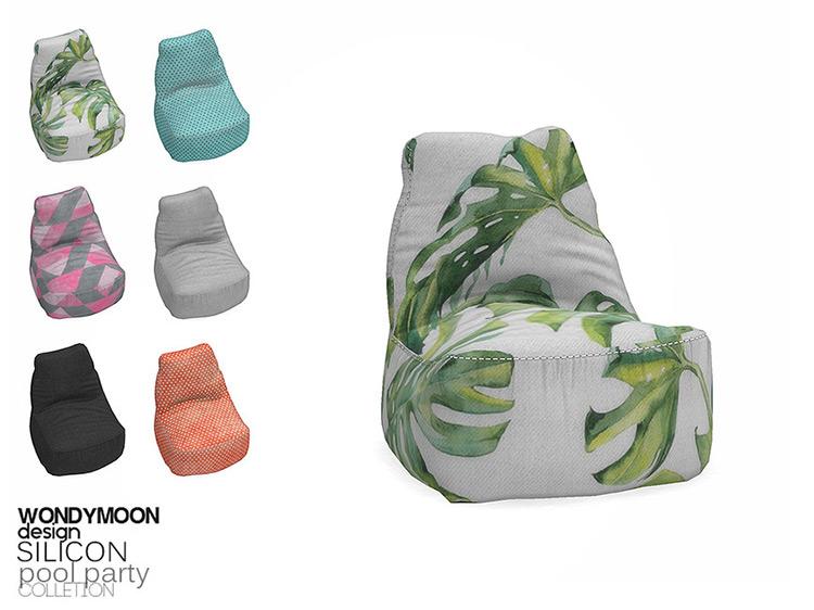 Silicon Bean Bag Chair for The Sims 4