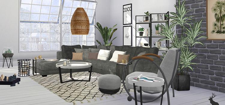 Custom Tuomo Sofa CC Set for The Sims 4