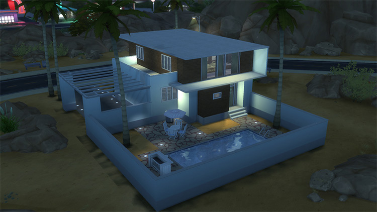 Sandtrap Bachelor Pad / Custom Sims 4 Lot