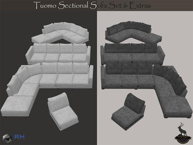Tuomo Sectional Sofa Set / Sims 4 CC