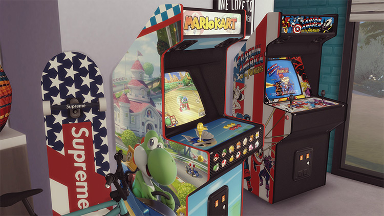 Arcade Cabinets CC for The Sims 4