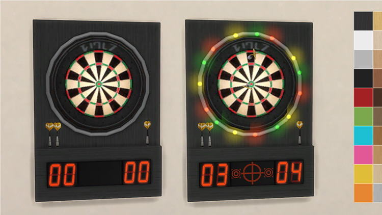 Modern Dartboard for The Sims 4