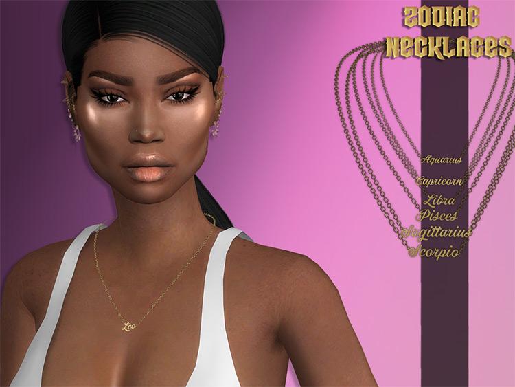 Zodiac Necklaces Sims 4 CC