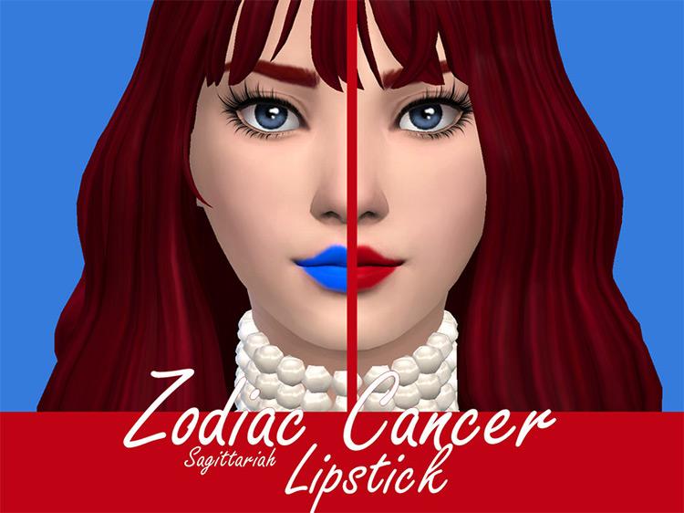 Zodiac Cancer Lipstick Sims 4 CC