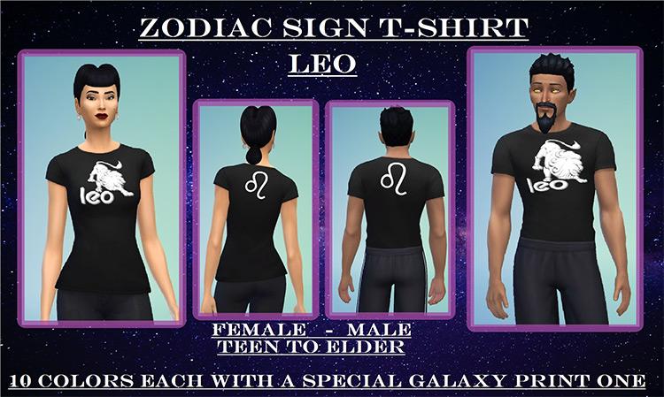 Zodiac Sign Leo T-Shirt TS4 CC
