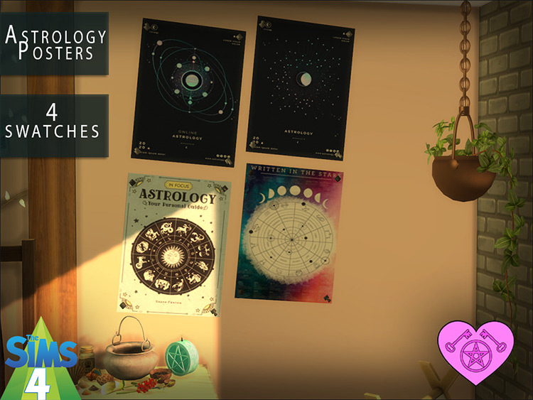 Astrology Posters Sims 4 CC