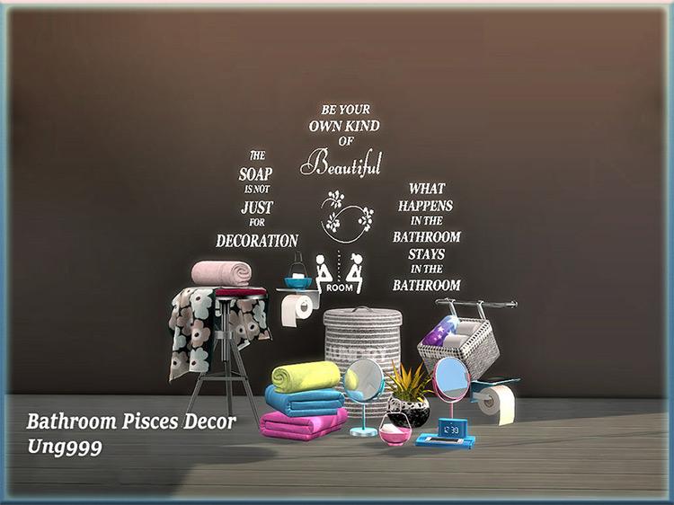 Bathroom Pisces Décor TS4 CC