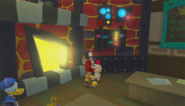 Sora and synthesis moogle in KH 1.5 HD