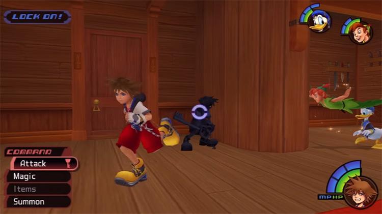 Neverland Anti-Sora Battle in KH 1.5 HD