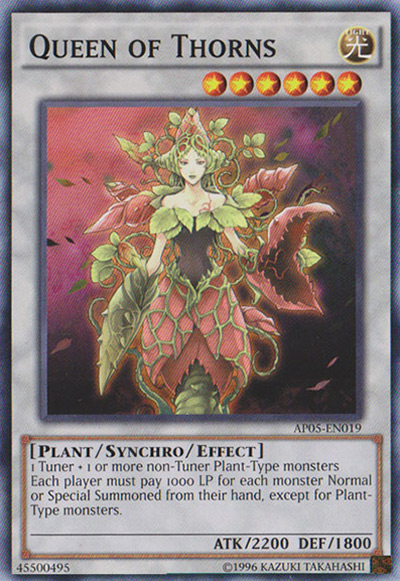 Queen of Thorns Yu-Gi-Oh Card