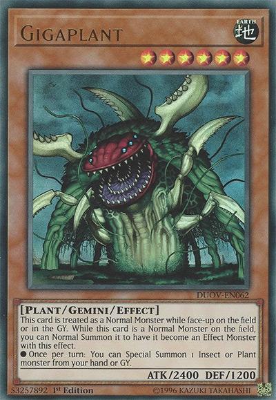 Gigaplant YGO Card