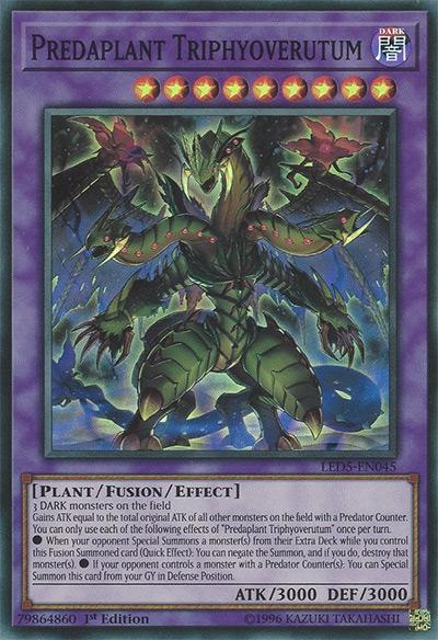 Predaplant Triphyoverutum YGO Card