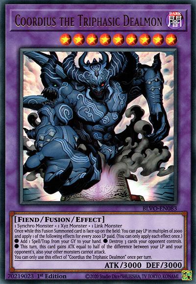 Coordius the Triphasic Dealmon Yu-Gi-Oh Card