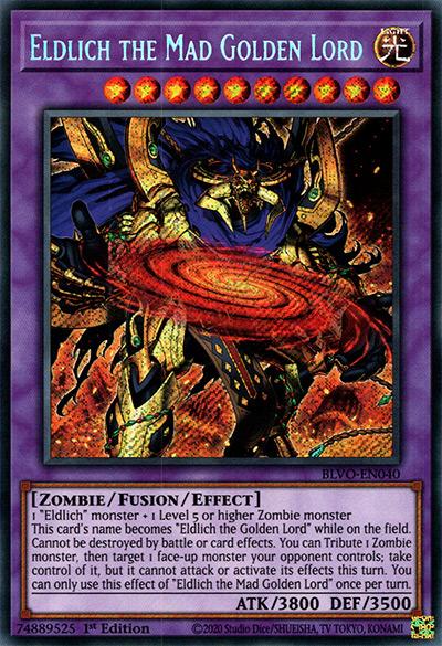 Eldlich The Mad Golden Lord YGO Card