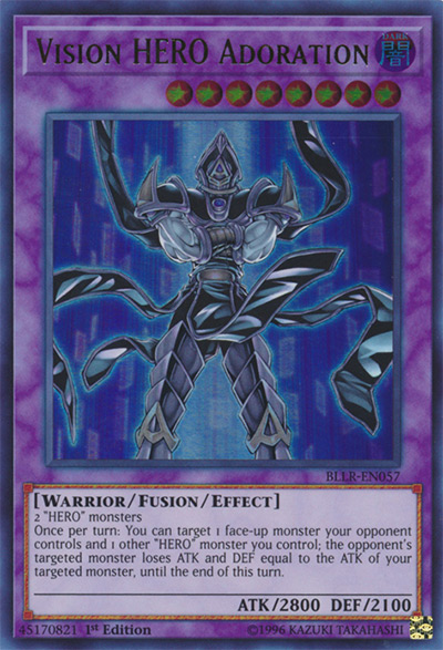 Vision HERO Adoration YGO Card