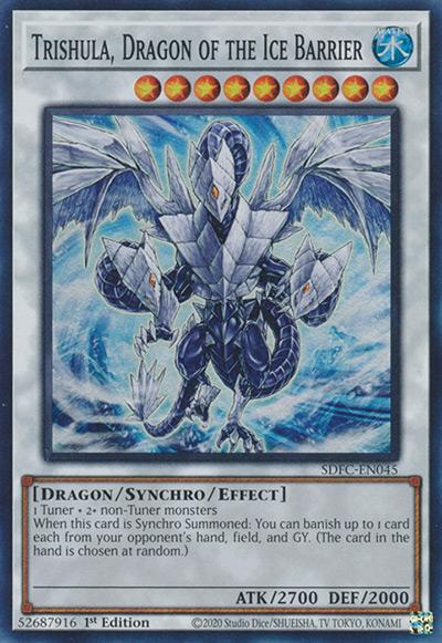 Trishula, Dragon of the Ice Barrier Yu-Gi-Oh Card