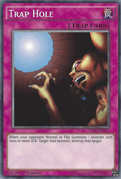 Trap Hole Yu-Gi-Oh Card
