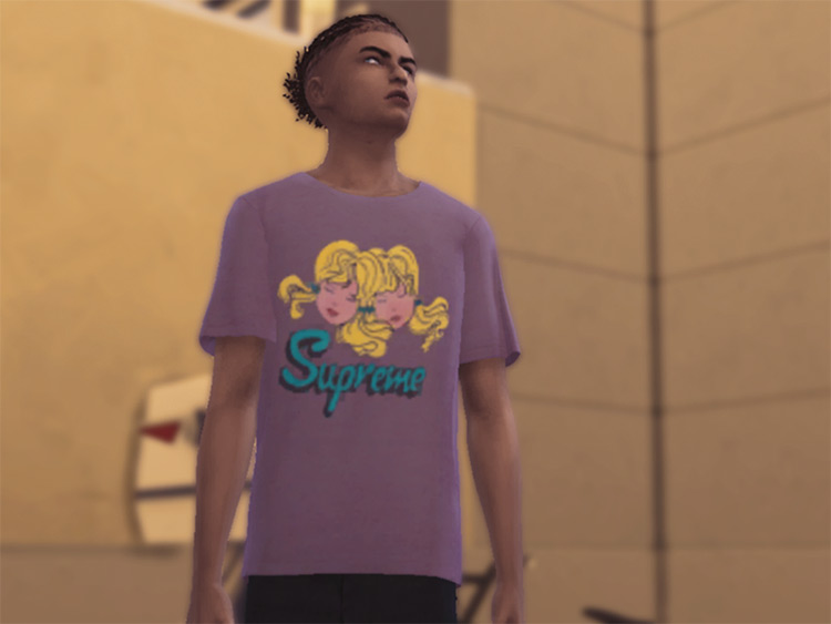 Iconic Supreme Tees for The Sims 4
