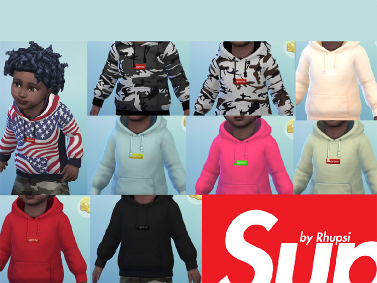 Supreme Hoodie for Toddlers / TS4 CC