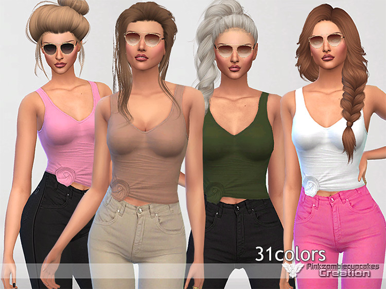 Girls Soft Tank Top for The Sims 4
