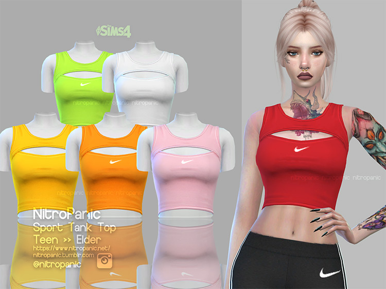 Sport Tank Top (Female) for The Sims 4