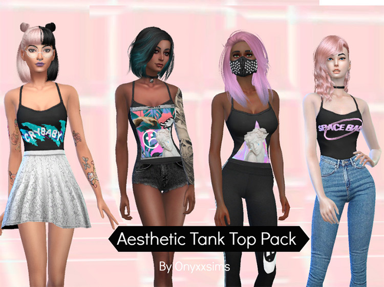 Aesthetic Tank Top Pack / Sims 4 CC