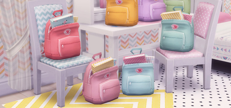 Pastel Backpacks Set for The Sims 4