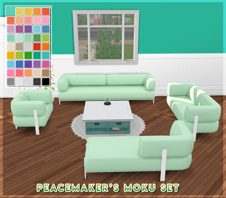 Moku Couch & Furniture Set / Sims 4 CC