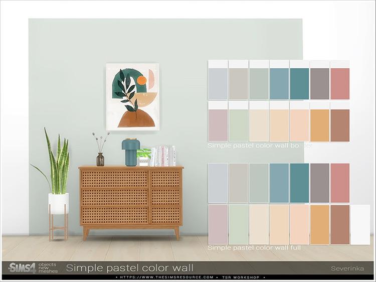 Simple Pastel Wall Color Set / TS4 CC