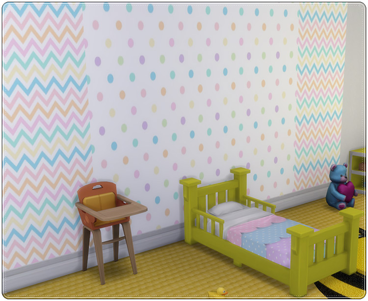 Wallpapers Pastel Set / TS4 CC