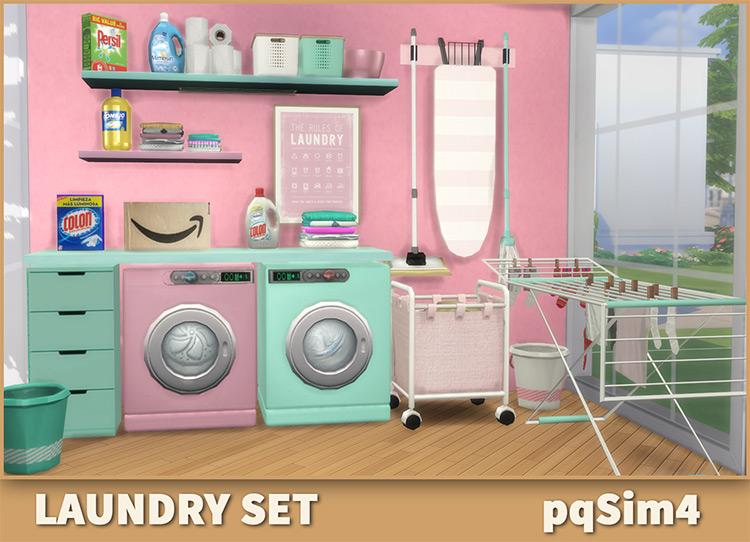 Laundry CC Set / Sims 4 CC