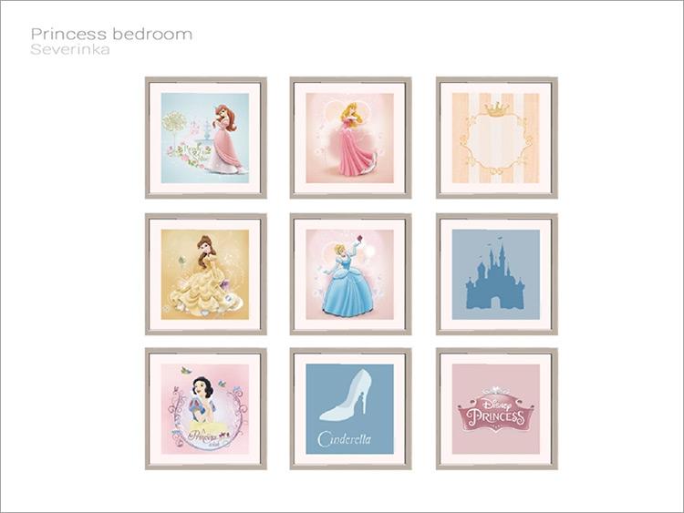 Disney Princess Paintings / Sims 4 CC