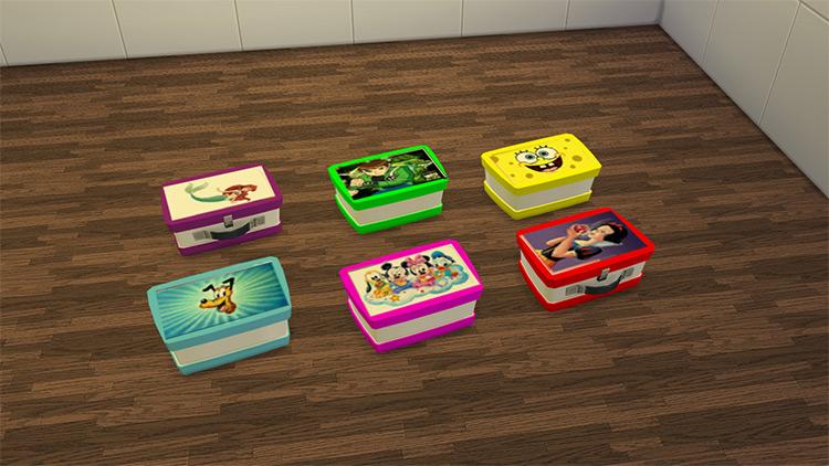Cartoon Lunchboxes / Sims 4 CC
