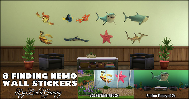 Finding Nemo Wall Stickers for The Sims 4