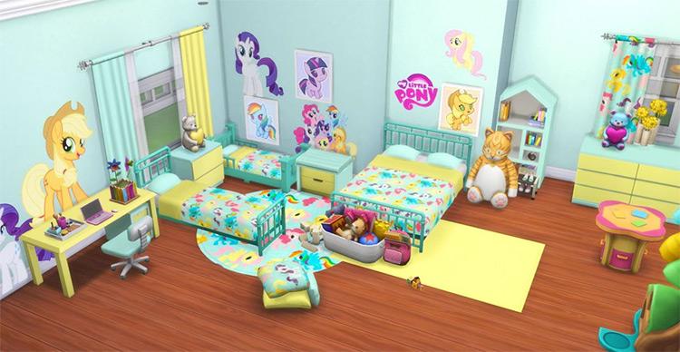 My Little Pony Bedroom Set / Sims 4 CC