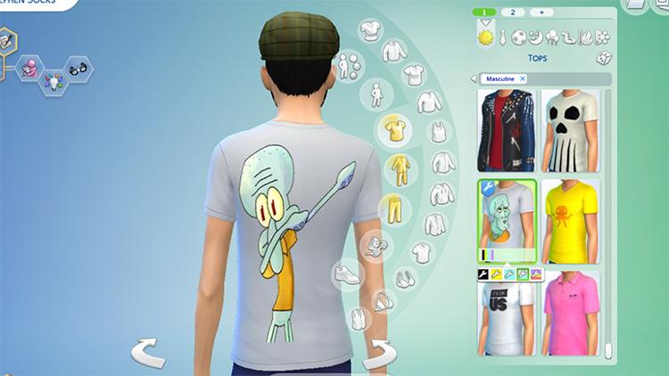 SpongeBob SquarePants Shirts / TS4 CC