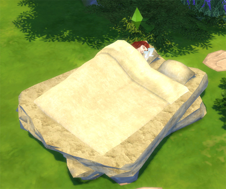 Stone Age Bed for The Sims 4