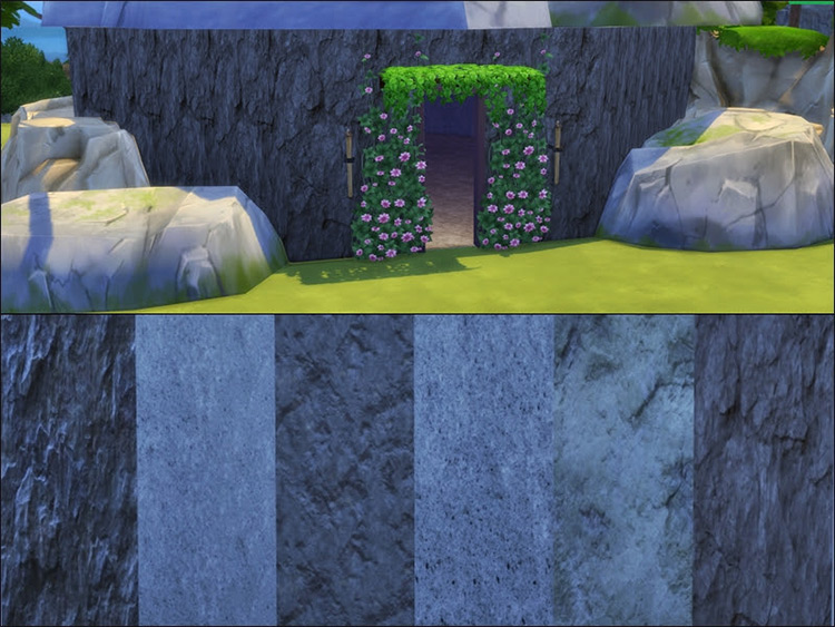 Natural Wall of Rock for The Sims 4