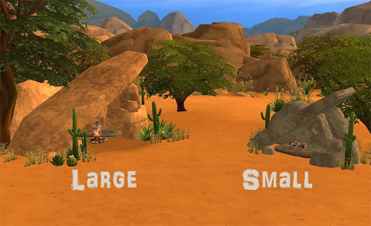 Prehistoric Rock Shelter / Sims 4 CC
