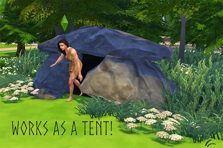 Prehistoric Cave Object / Sims 4 CC
